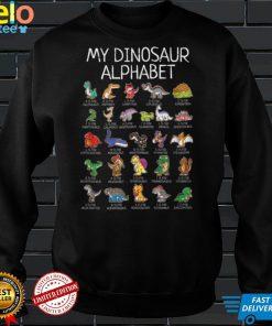 My Dinosaur Alphabet A Z ABC Dino T rex Dinosaurus T Shirt