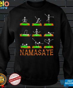 Namaste Yoga Skeleton on Mat Halloween Costume Bones Teacher T Shirt