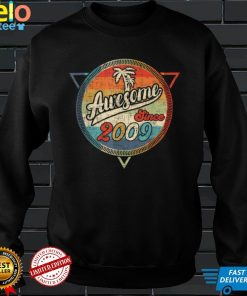 Official 12 Years Old Awesome Since 2009 12th Birthday Gift T Shirt