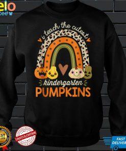 Official I Teach the Cutest Kindergarten Pumpkin Halloween Teacher T Shirt