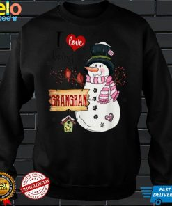 Official I love Being A Grangran Snowman Christmas Funny Xmas T Shirt
