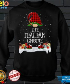 Official Matching Red Buffalo Plaid The Italian Gnome Christmas T Shirt