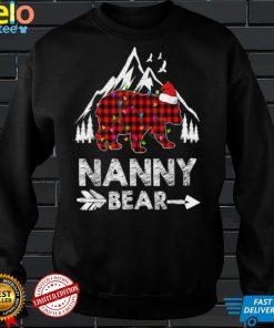 Official Red Plaid Nanny Bear Matching Buffalo Pajama T Shirt 1
