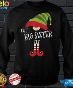 Official The Big Sister Elf Christmas Eve T Shirt