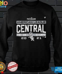 Official White Chicago Sox 2021 AL Central Champions T Shirt T Shirt