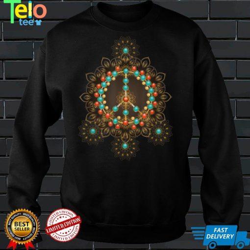 PEACE SIGN LOVE 60s 70s Tie Dye Hippie Halloween Costume T Shirt