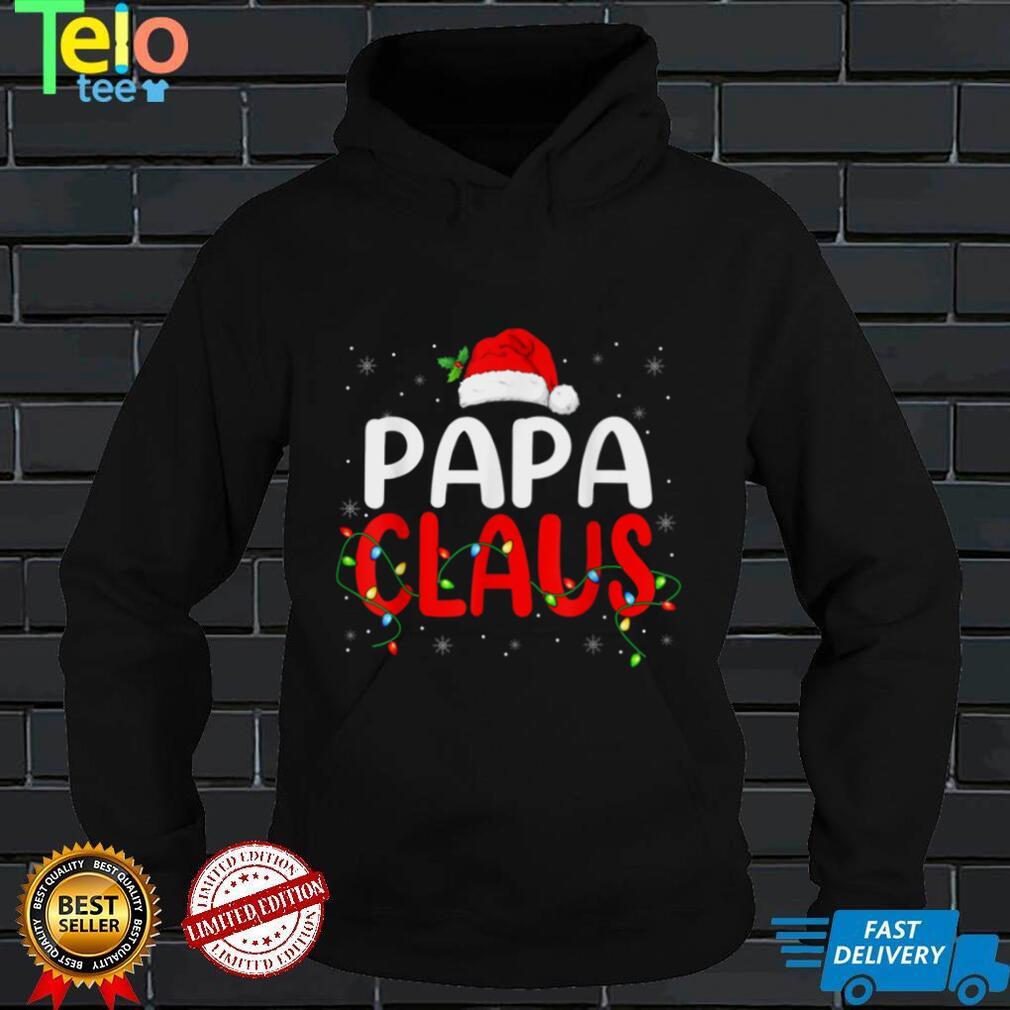 Papa Claus Christmas Santa Lover Matching Family Group T Shirt
