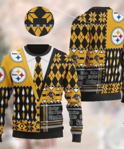Pittsburgh Steelers NFL American Football Team Cardigan Style 3D Men And Women Ugly Sweater Shirt For Sport Lovers On Christmas Days