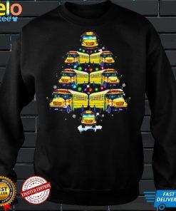 School Bus Christmas Tree Shirt