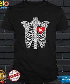 Skeleton Rib Cage Brussels Griffon Dog Halloween Costume T Shirt