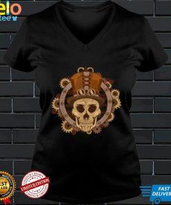 Steampunk Skull Face Mask T Shirt