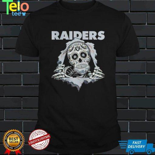 Sugar Skull Las Vegas Raiders inside me shirt