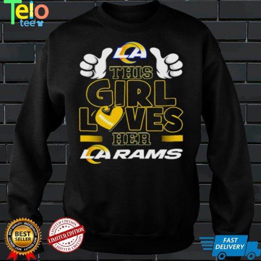 This girl loves her La Rams shirt