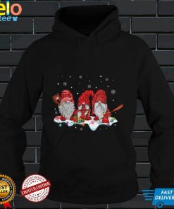 Three Nordic Gnomes Merry Christmas Lights Gnome Xmas T Shirt