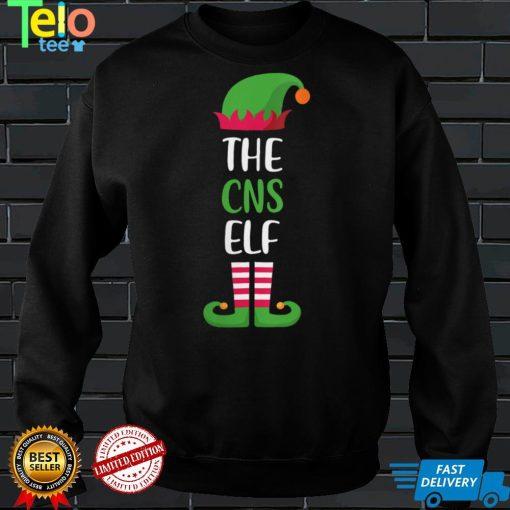 Womens CNS Elf Christmas Family Matching Funny Xmas Nurse Gift V Neck T Shirt