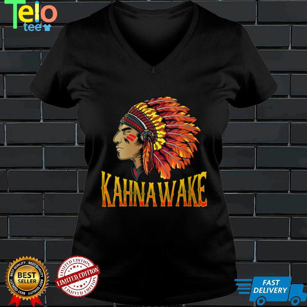 Womens Kahnawake Tribe Native American Kahnawake Heritage Related V Neck T Shirt