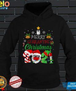 Womens Merry Christmas 2021 Reindeer Funny Pajamas Family Xmas V Neck T Shirt (2)