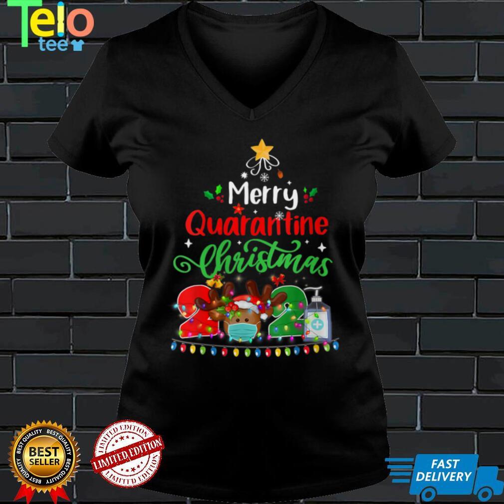 Womens Merry Christmas 2021 Reindeer Funny Pajamas Family Xmas V Neck T Shirt (4)