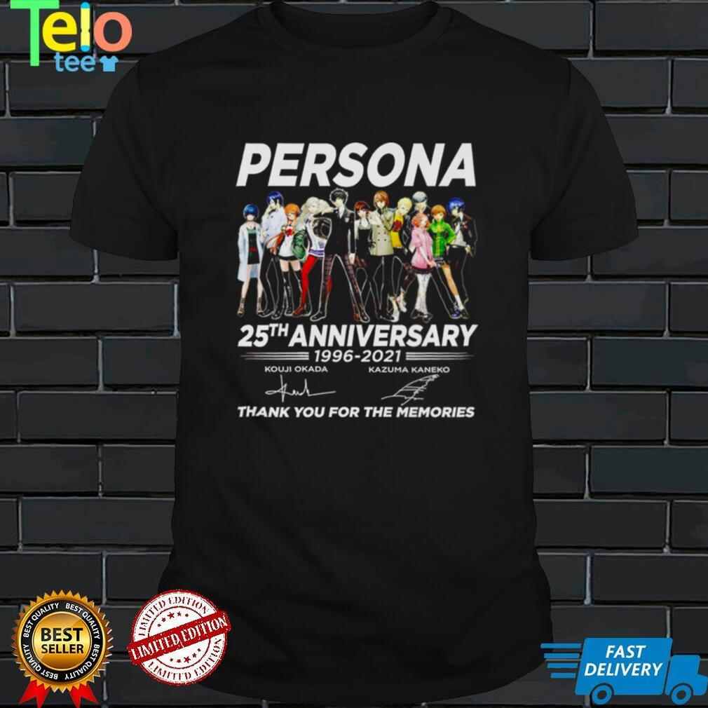 Persona 25th anniversary 1996 2021 signatures thank you for the memories shirt